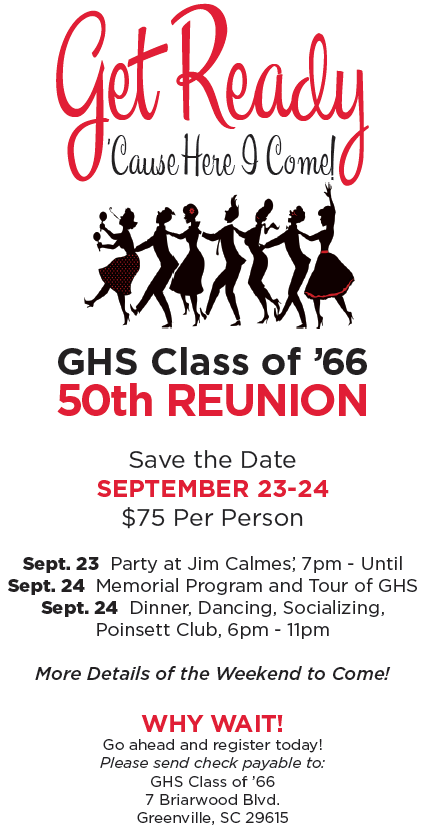 Save The Date - 50th Reunion